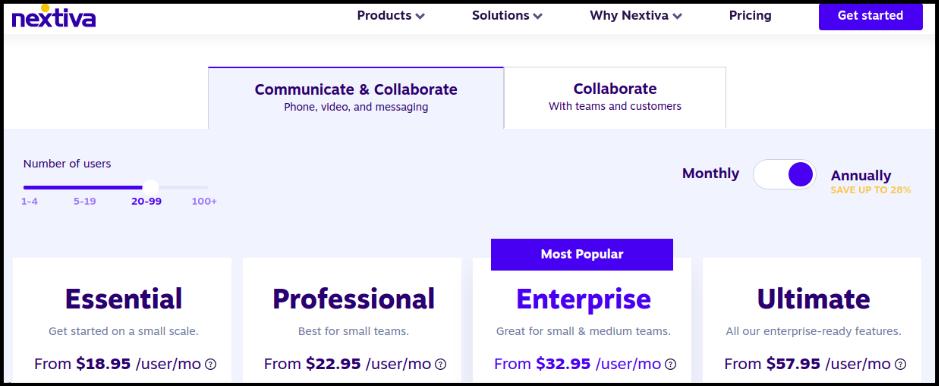 Nextiva pricing